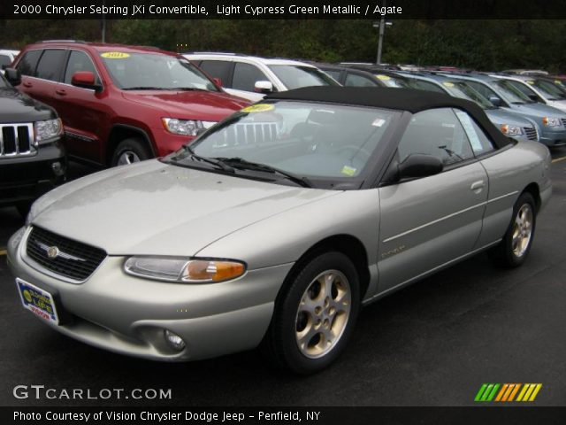 light cypress green metallic 2000 chrysler sebring jxi. Black Bedroom Furniture Sets. Home Design Ideas