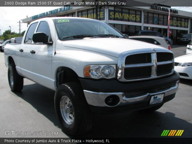 bright white 2003 dodge ram 1500 st quad cab dark slate gray interior. Black Bedroom Furniture Sets. Home Design Ideas