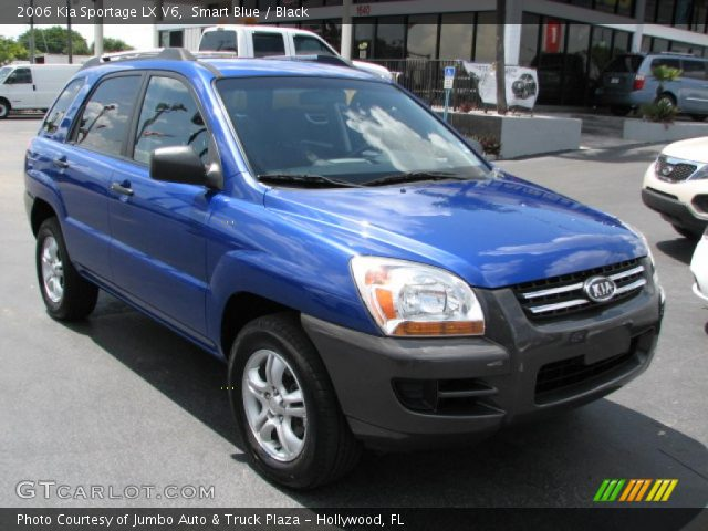 smart blue 2006 kia sportage lx v6 black interior. Black Bedroom Furniture Sets. Home Design Ideas