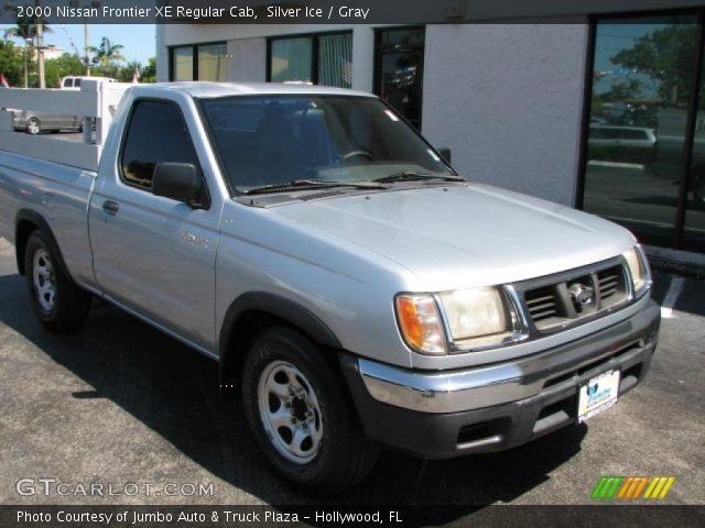silver ice 2000 nissan frontier xe regular cab gray interior vehicle. Black Bedroom Furniture Sets. Home Design Ideas
