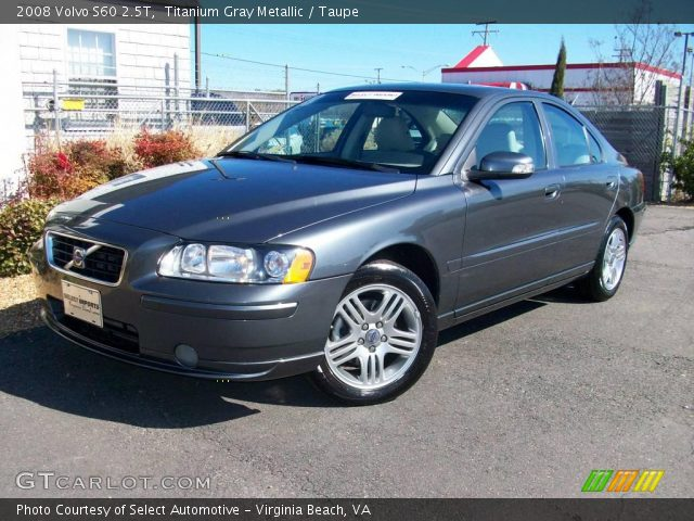 titanium gray metallic 2008 volvo s60 2 5t taupe. Black Bedroom Furniture Sets. Home Design Ideas