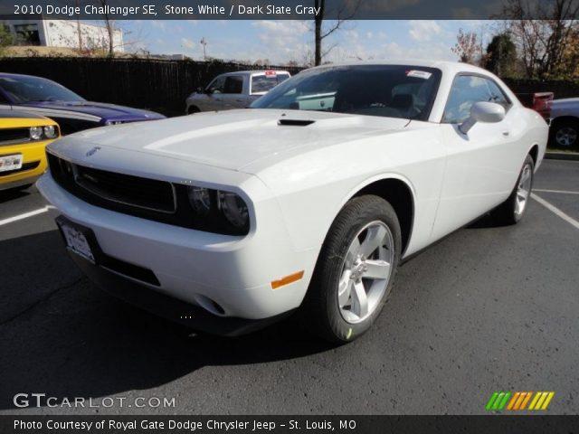 Stone White 2010 Dodge Challenger Se Dark Slate Gray Interior Vehicle
