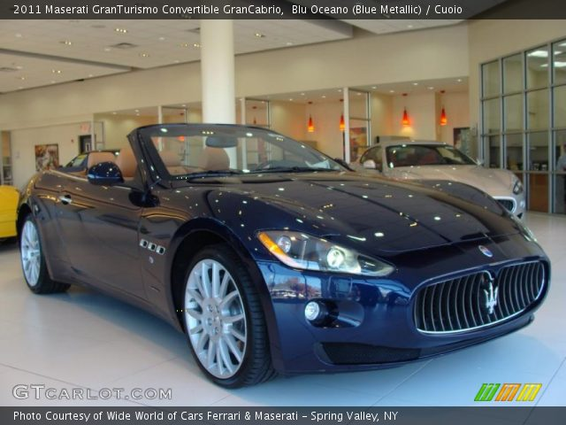 2011 Maserati GranTurismo Convertible GranCabrio in Blu Oceano (Blue Metallic)