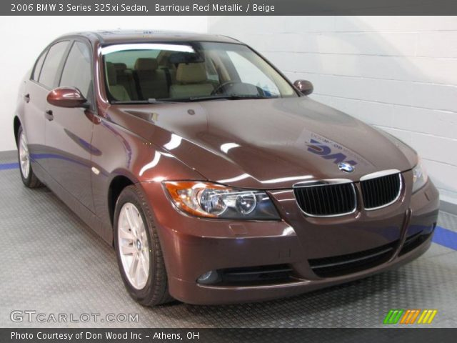 barrique red metallic 2006 bmw 3 series 325xi sedan beige interior vehicle. Black Bedroom Furniture Sets. Home Design Ideas
