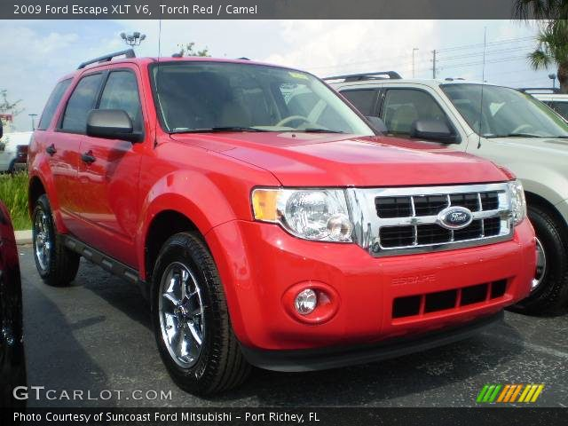 Red Ford Escape 2009. Torch Red 2009 Ford Escape XLT