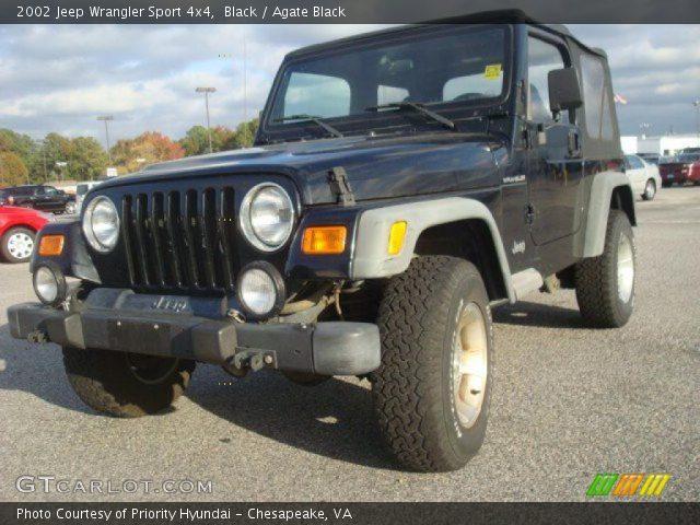 black 2002 jeep wrangler sport 4x4 agate black. Black Bedroom Furniture Sets. Home Design Ideas