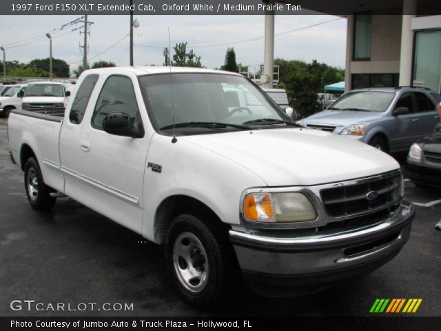 oxford white 1997 ford f150 xlt extended cab medium prairie tan interior. Black Bedroom Furniture Sets. Home Design Ideas