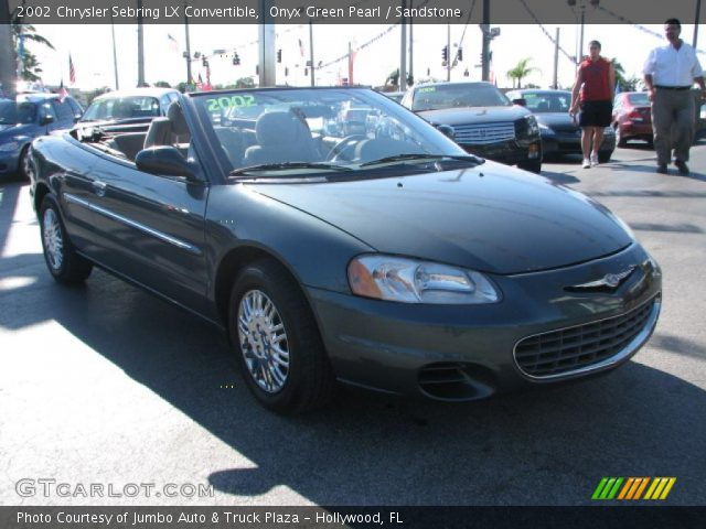 2002 chrysler sebring lx convertible in onyx green pearl click to see. Cars Review. Best American Auto & Cars Review