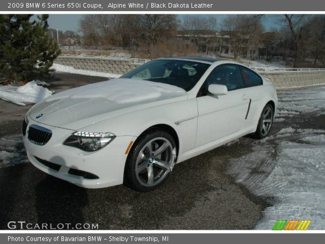 alpine white 2009 bmw 6 series 650i coupe black dakota. Black Bedroom Furniture Sets. Home Design Ideas