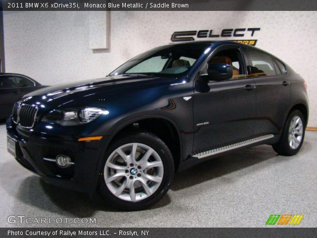 2011 BMW X6 xDrive35i in Monaco Blue Metallic
