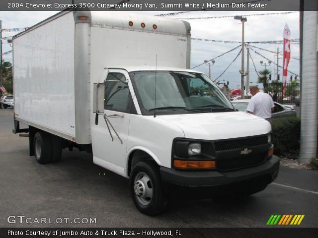 summit white 2004 chevrolet express 3500 cutaway moving. Black Bedroom Furniture Sets. Home Design Ideas
