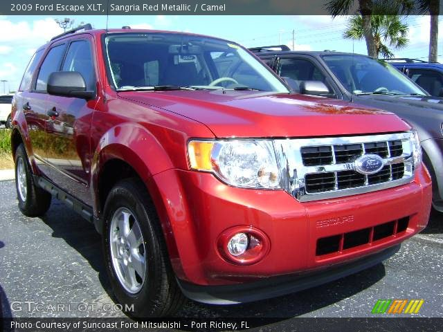 Red Ford Escape 2009. Sangria Red Metallic 2009 Ford