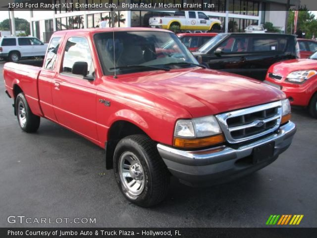 bright red 1998 ford ranger xlt extended cab medium prairie tan interior. Black Bedroom Furniture Sets. Home Design Ideas