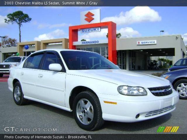 2003 Chevrolet Malibu LS Sedan in Summit White. Click to see large ...