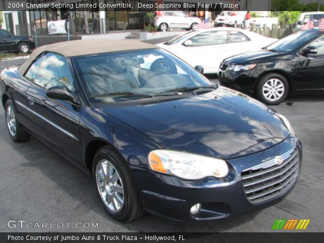 deep sapphire blue pearl 2004 chrysler sebring limited. Black Bedroom Furniture Sets. Home Design Ideas