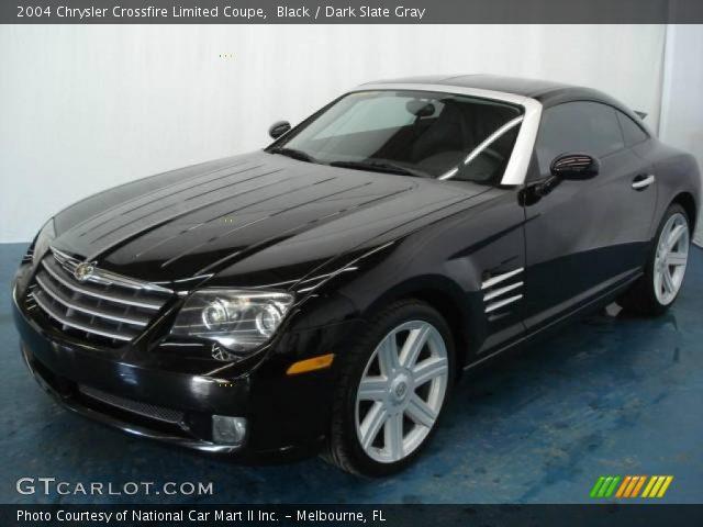 Black 2004 chrysler crossfire limited coupe dark slate - 2004 chrysler crossfire interior ...
