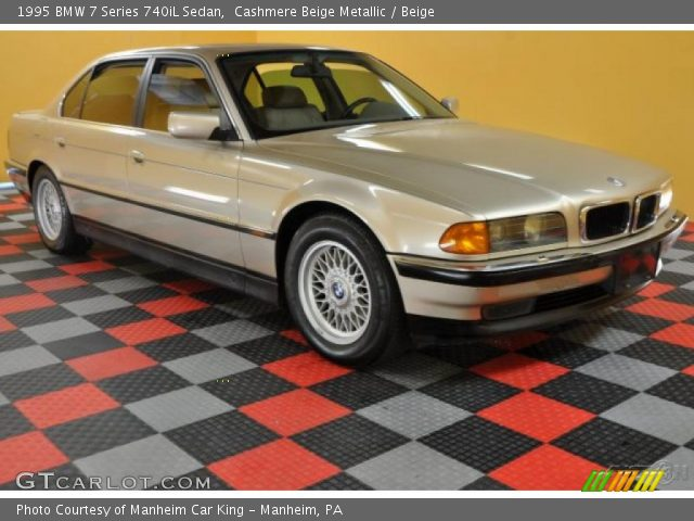 cashmere beige metallic 1995 bmw 7 series 740il sedan beige interior. Black Bedroom Furniture Sets. Home Design Ideas