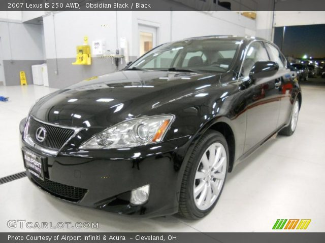 obsidian black 2007 lexus is 250 awd black interior vehicle archive 39889403. Black Bedroom Furniture Sets. Home Design Ideas