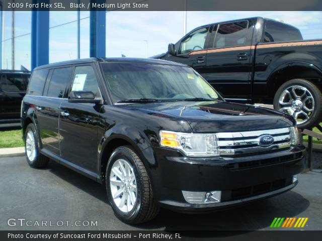 black 2009 ford flex sel medium light stone interior. Black Bedroom Furniture Sets. Home Design Ideas