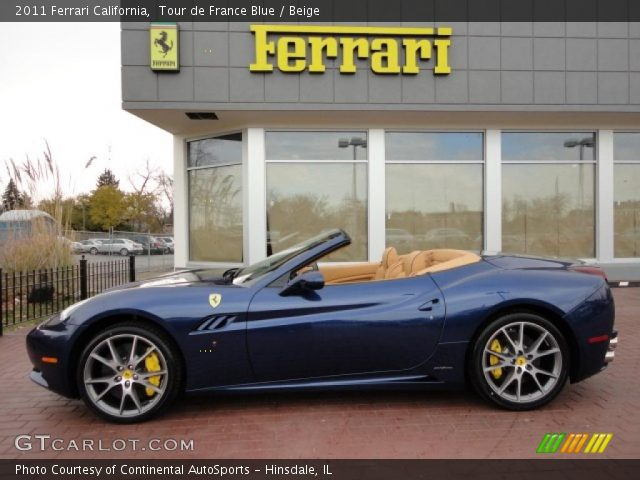 2011 Ferrari California  in Tour de France Blue
