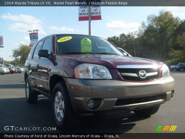 merlot pearl metallic 2004 mazda tribute lx v6 medium. Black Bedroom Furniture Sets. Home Design Ideas