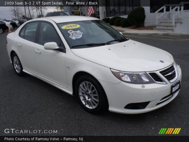 2009 Saab 9-3 2.0T Sport Sedan in Polar White