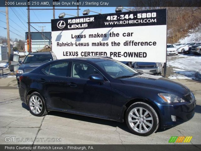 blue onyx pearl 2006 lexus is 250 awd sterling gray interior vehicle. Black Bedroom Furniture Sets. Home Design Ideas