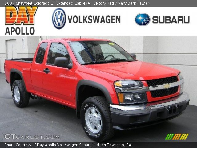 victory red 2007 chevrolet colorado lt extended cab 4x4. Black Bedroom Furniture Sets. Home Design Ideas