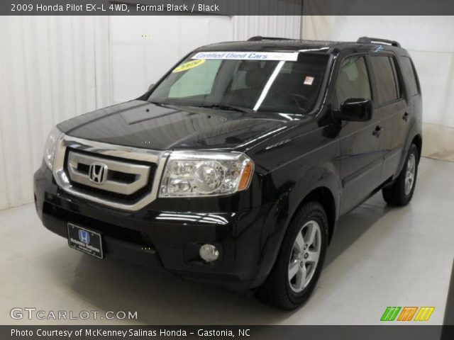 Formal Black 2009 Honda Pilot Ex L 4wd Black Interior Vehicle Archive 40004863