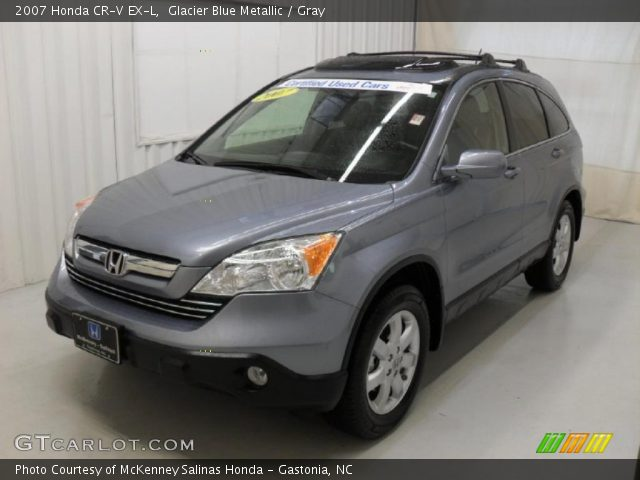 glacier blue metallic 2007 honda cr v ex l gray interior vehicle archive. Black Bedroom Furniture Sets. Home Design Ideas
