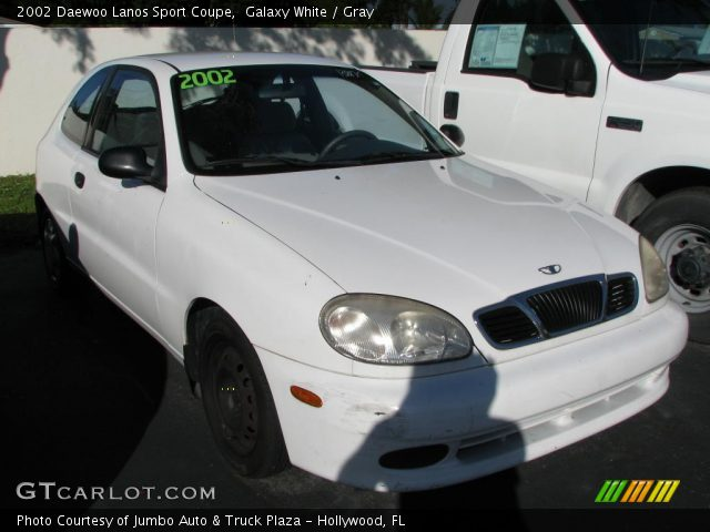 2002 Daewoo Lanos Sport Coupe in Galaxy White