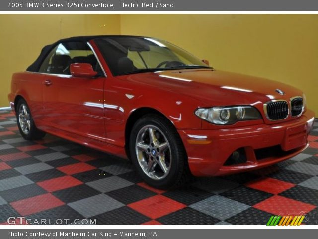 Electric Red 2005 Bmw 3 Series 325i Convertible Sand Interior Vehicle