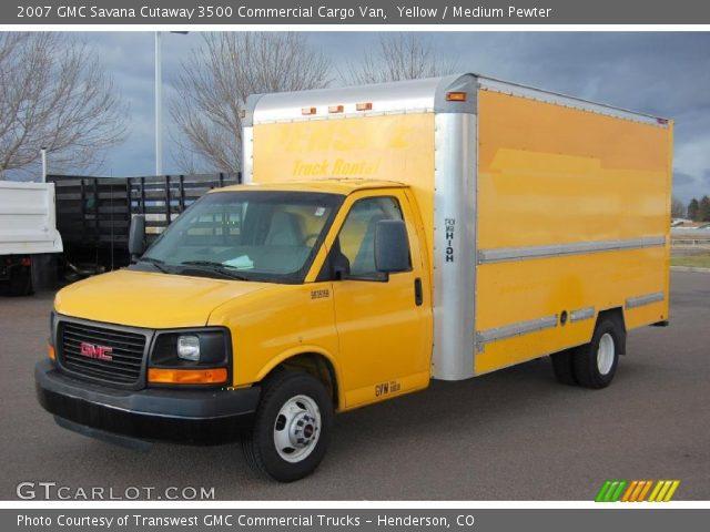 Yellow 2007 gmc savana cutaway 3500 commercial cargo van - Commercial van interior accessories ...