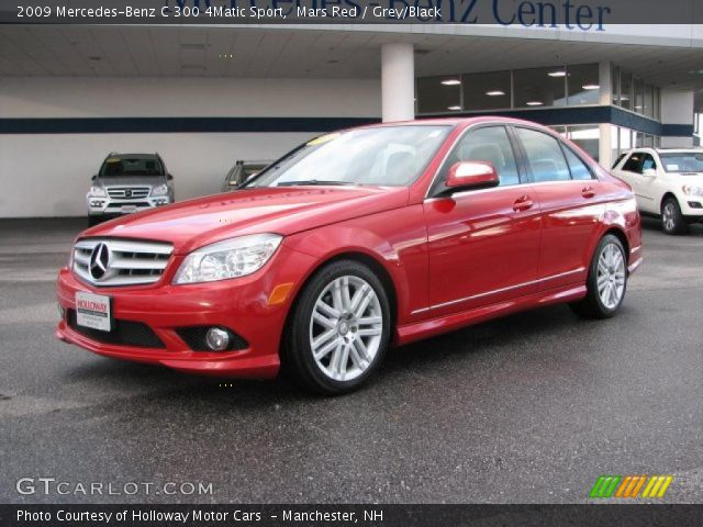 Mars red 2009 mercedes benz c 300 4matic sport grey for 2009 mercedes benz c 300