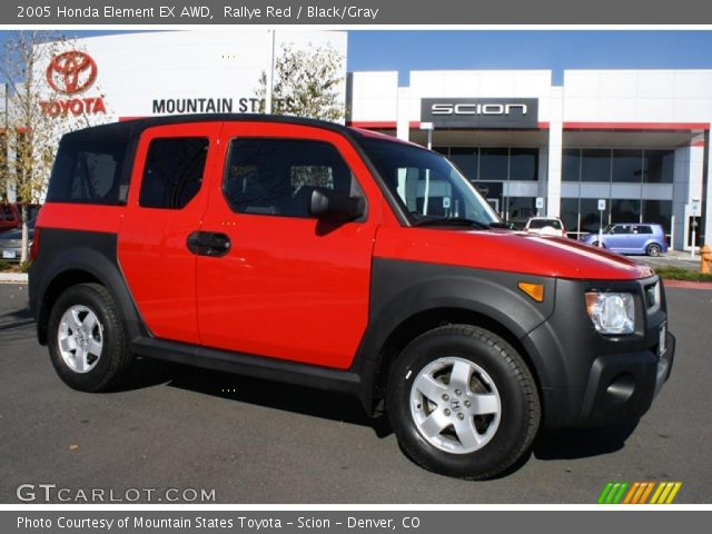 rallye red 2005 honda element ex awd black gray interior vehicle archive. Black Bedroom Furniture Sets. Home Design Ideas