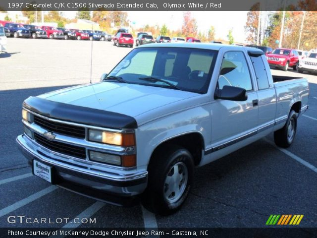 olympic white 1997 chevrolet c k c1500 silverado extended cab red interior. Black Bedroom Furniture Sets. Home Design Ideas