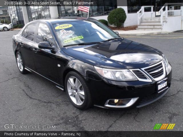 black 2008 saab 9 3 aero sport sedan parchment. Black Bedroom Furniture Sets. Home Design Ideas