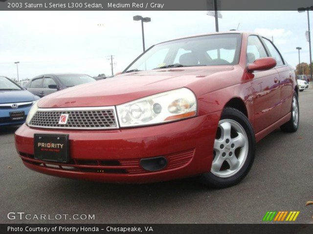 2003 Saturn L Series L300 Sedan in Medium Red