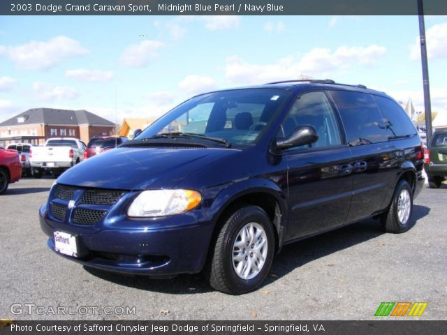 midnight blue pearl 2003 dodge grand caravan sport navy blue interior gtcarlot com vehicle archive 40134347 gtcarlot com