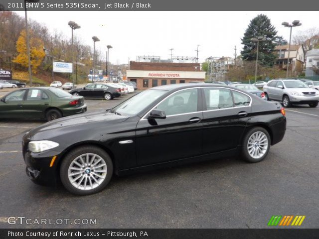 jet black 2011 bmw 5 series 535i sedan black interior vehicle archive 40133918. Black Bedroom Furniture Sets. Home Design Ideas