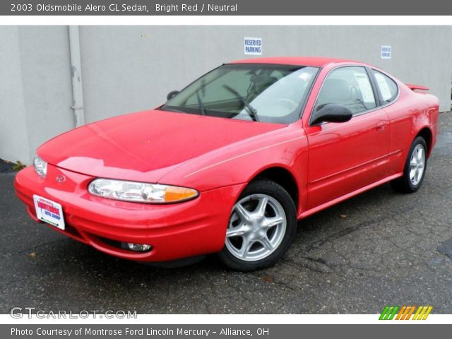 2003 Oldsmobile Alero GL Sedan in Bright Red