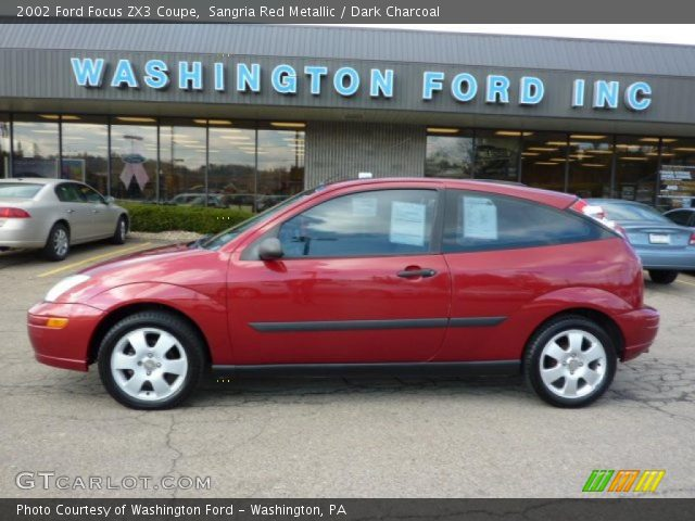 sangria red metallic 2002 ford focus zx3 coupe dark. Black Bedroom Furniture Sets. Home Design Ideas