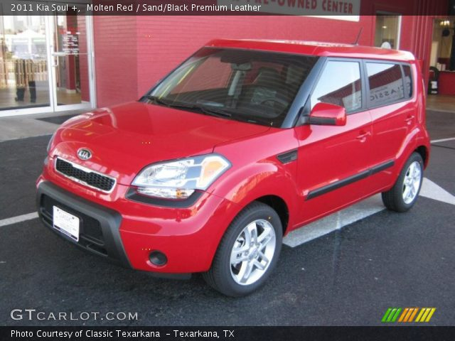 molten red 2011 kia soul sand black premium leather interior vehicle. Black Bedroom Furniture Sets. Home Design Ideas
