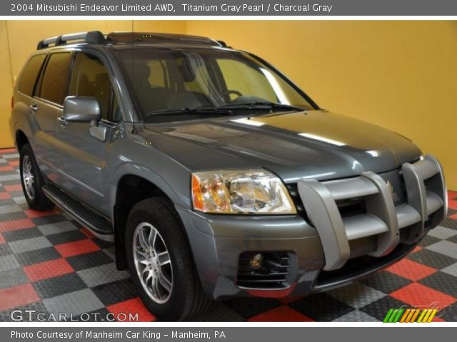 Titanium Gray Pearl 2004 Mitsubishi Endeavor Limited Awd Charcoal Gray Interior Gtcarlot