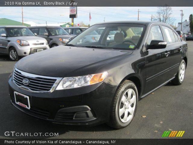 Ebony Black 2010 Kia Optima Lx Gray Interior Vehicle Archive 40302771