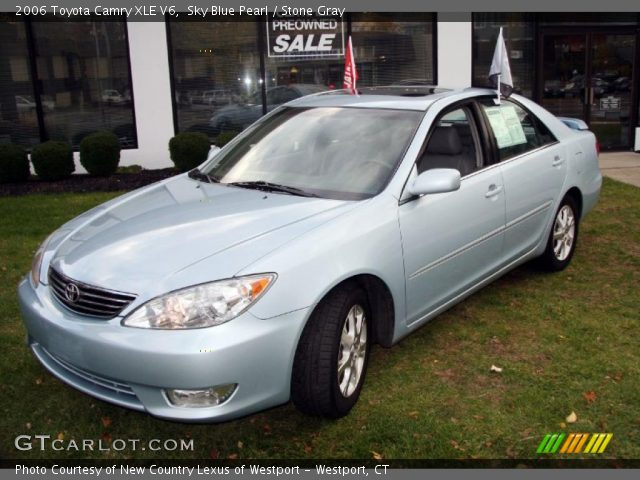 sky blue pearl 2006 toyota camry xle v6 stone gray. Black Bedroom Furniture Sets. Home Design Ideas