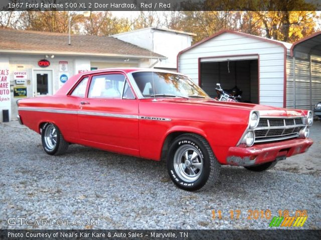 1967 Ford Fairlane 500 XL 2 Door Hardtop in Red
