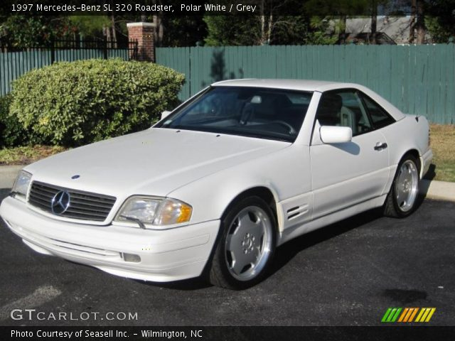 polar white 1997 mercedes benz sl 320 roadster grey interior vehicle. Black Bedroom Furniture Sets. Home Design Ideas