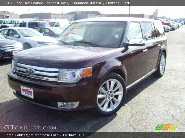 cinnamon metallic 2010 ford flex limited ecoboost awd charcoal black interior. Black Bedroom Furniture Sets. Home Design Ideas