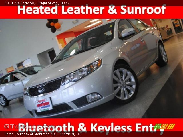 Kia Forte 2011 Black. Bright Silver 2011 Kia Forte SX with Black interior 2011 Kia Forte SX in